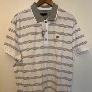 Men's Banana Republic XL White & Grey Polo Shirts